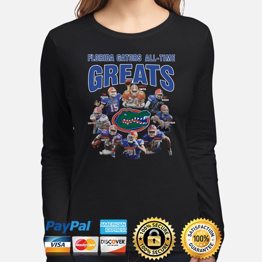 Florida Gators All-time greats signatures Long sleeve