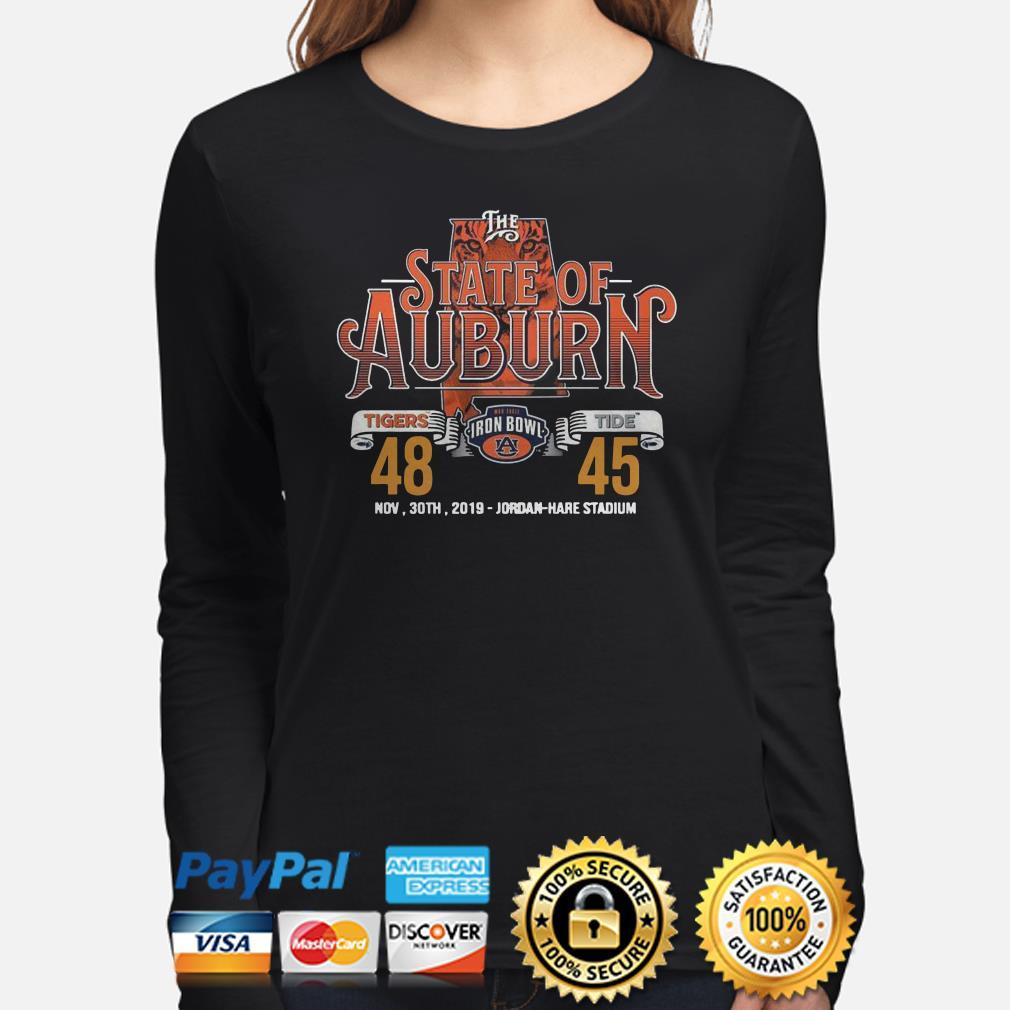 The State of Auburn Tigers Tide Nov 30th 2019 Jordan Hare Stadium Long sleeve