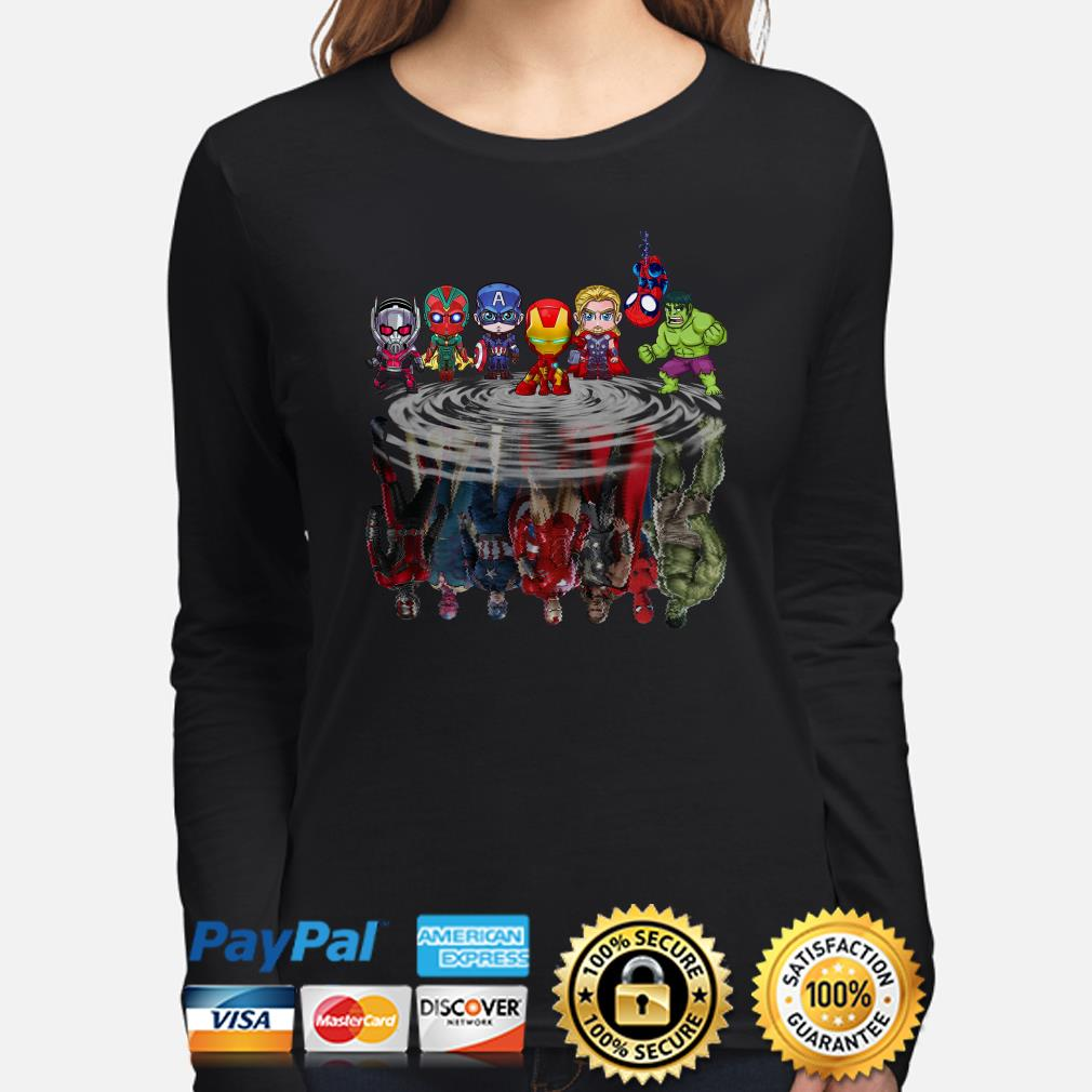 Marvel Chibi characters water mirror Long sleeve