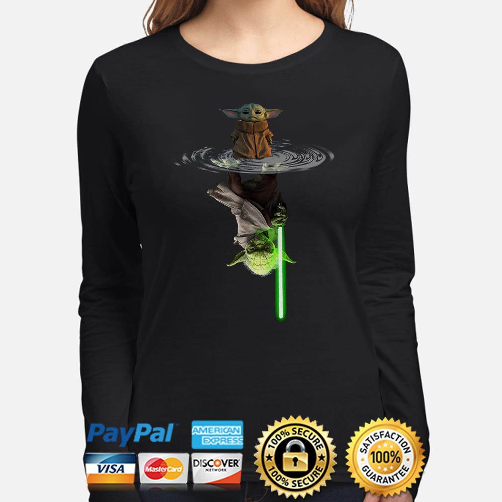 Baby Yoda water mirror Lightsaber Long sleeve
