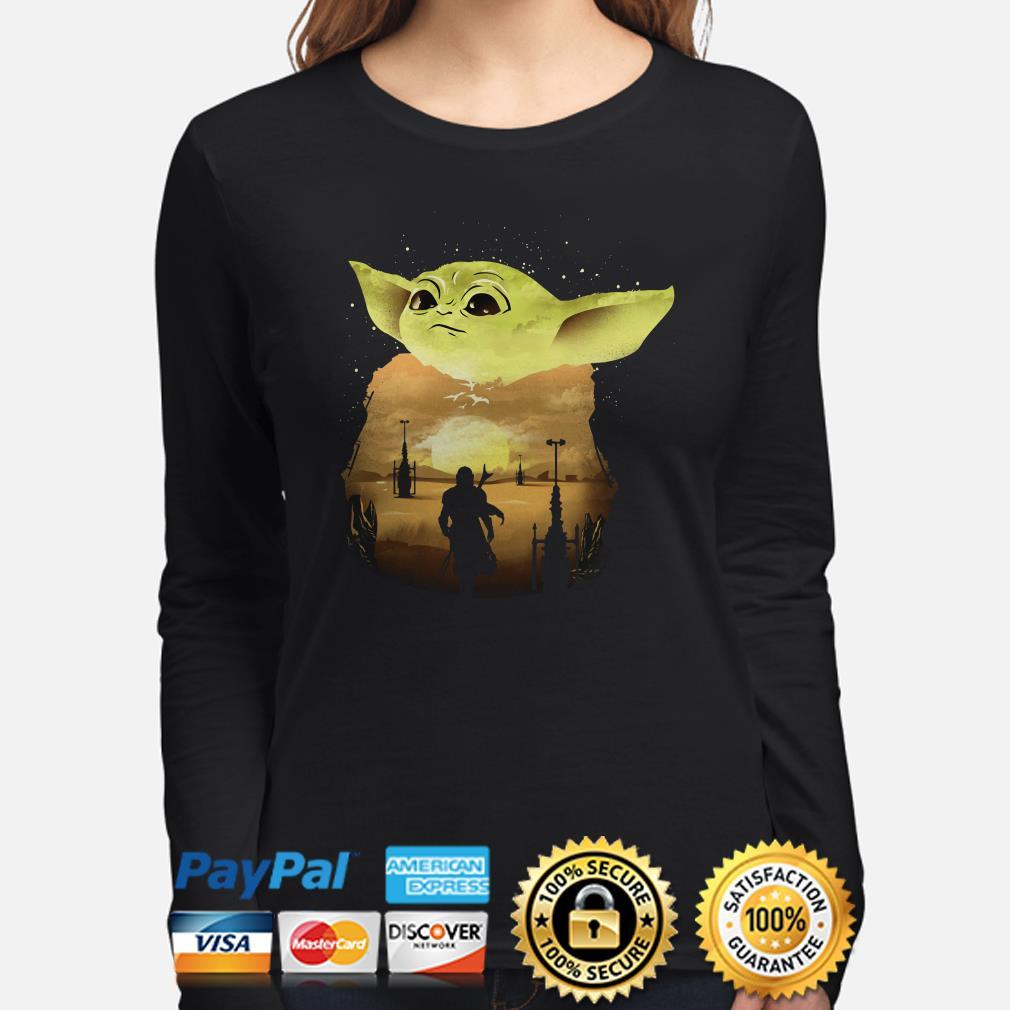 Baby Yoda Sunset Long sleeve