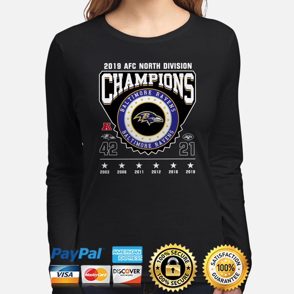 2019 AFC North Division Champions Baltimore Ravens Long sleeve