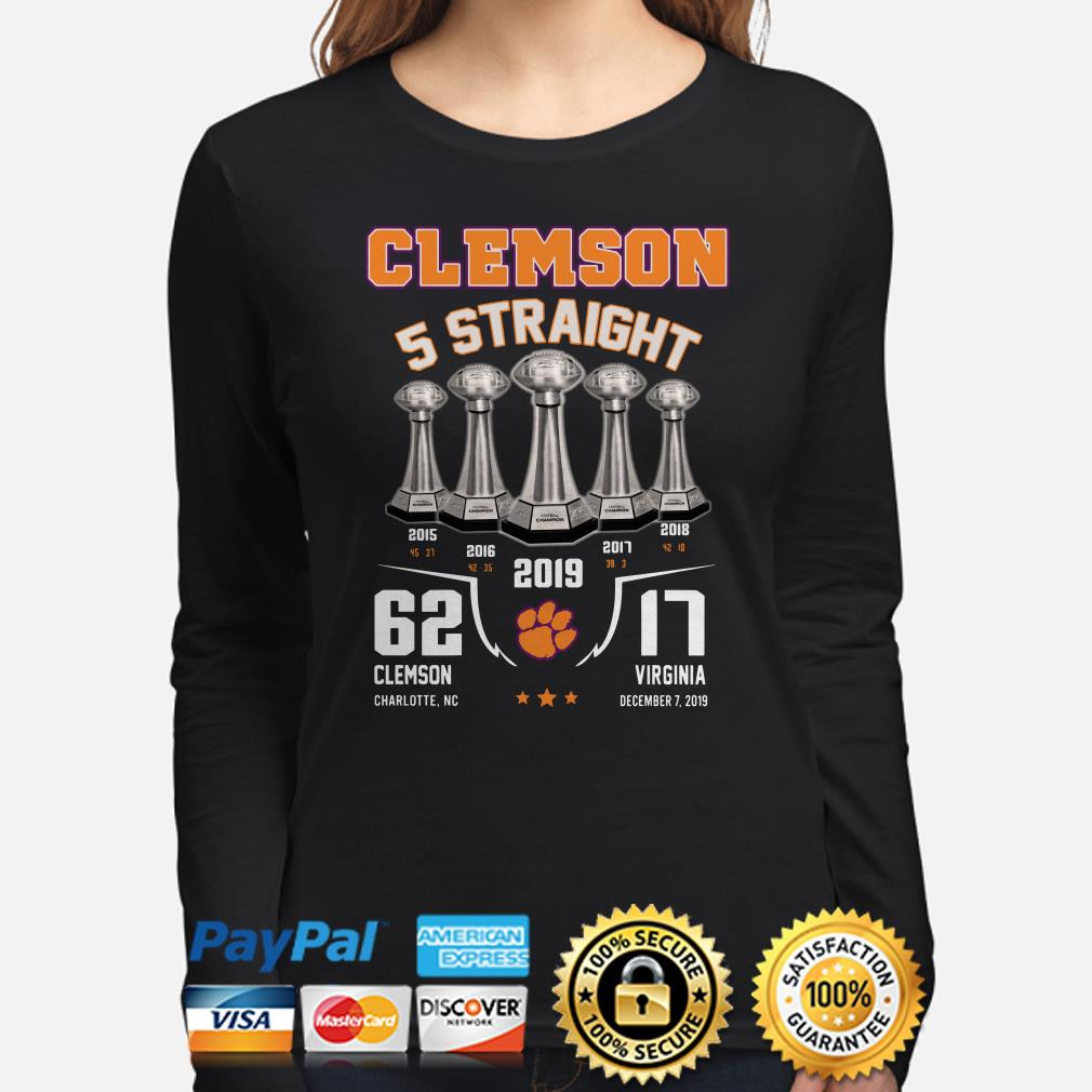 Alabama Clemson Tigers 5 straight 2019 Long sleeve