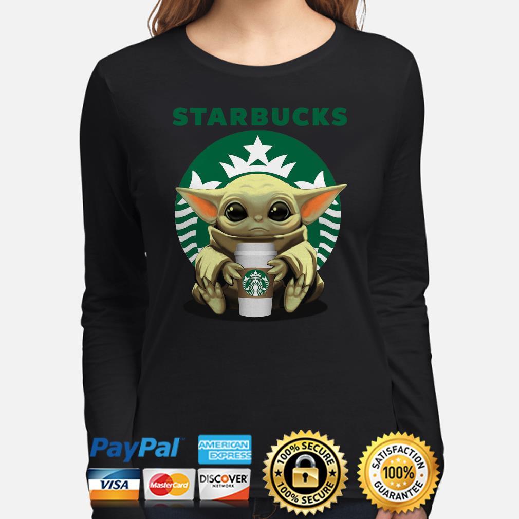 Baby Yoda hug Starbucks Coffee Long sleeve