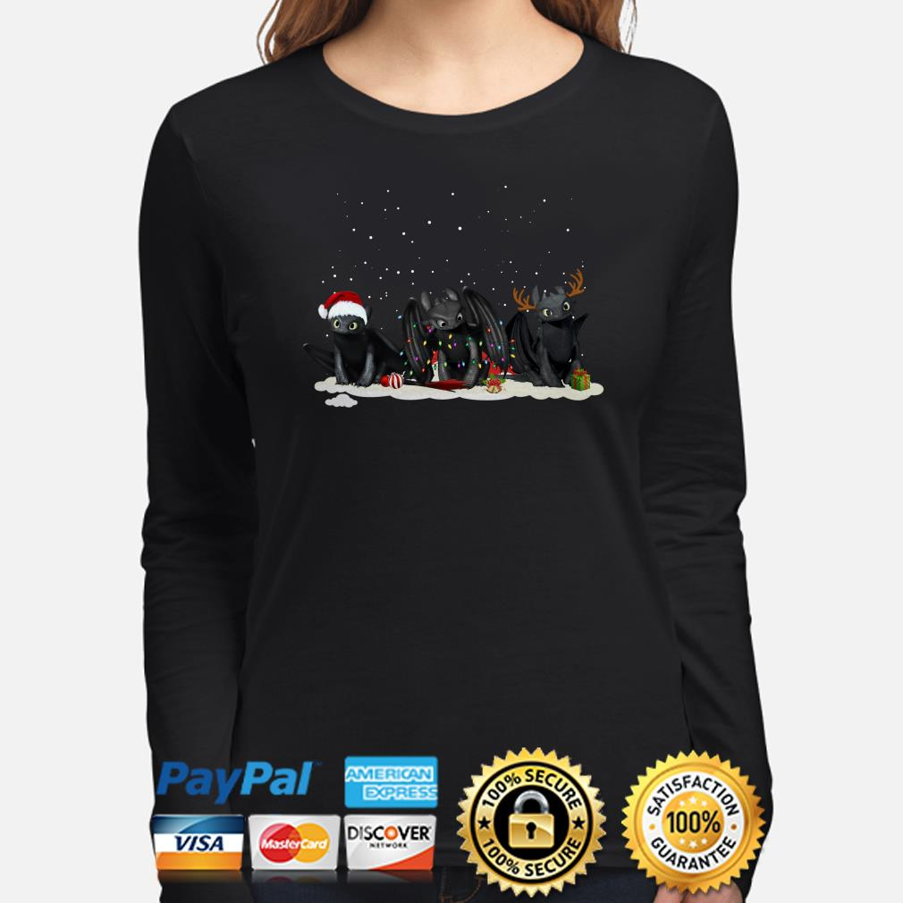 Santa Night Fury reindeer Christmas long sleeve