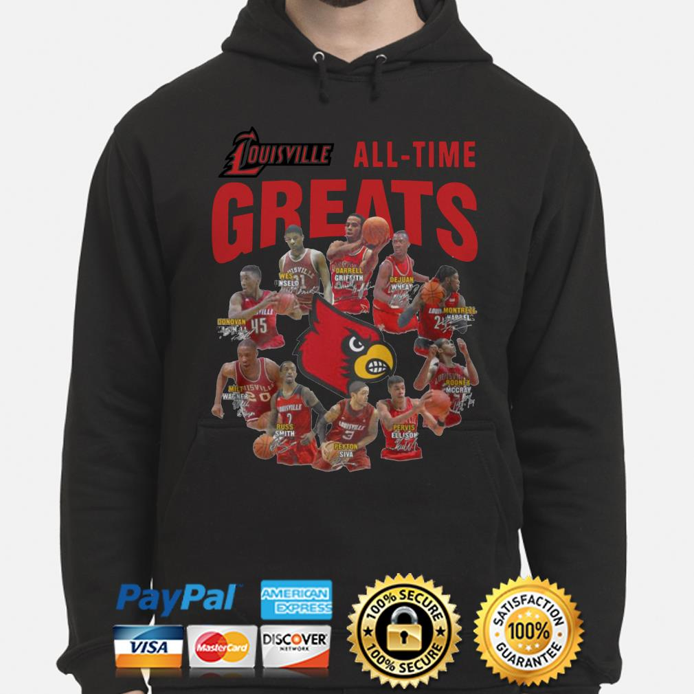 Louisville all-time greats signature Hoodie