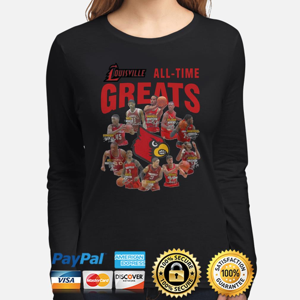 Louisville all-time greats signature Long sleeve