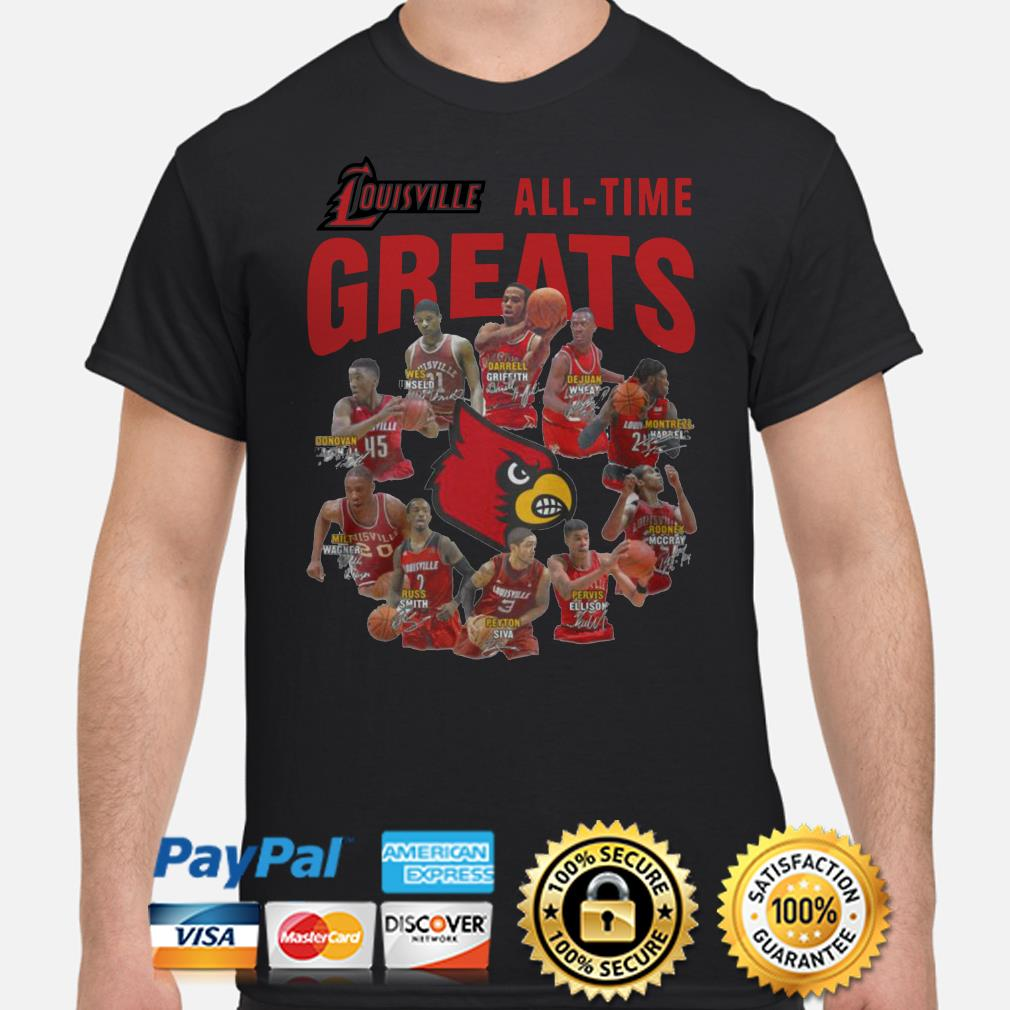 Louisville all-time greats signature shirt