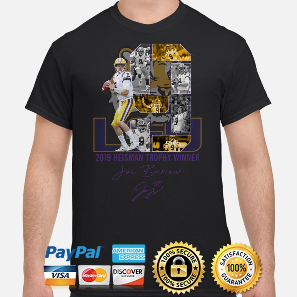 LSU Tigers 2019 Heisman Trophy winner Joe Burrow signature shirt