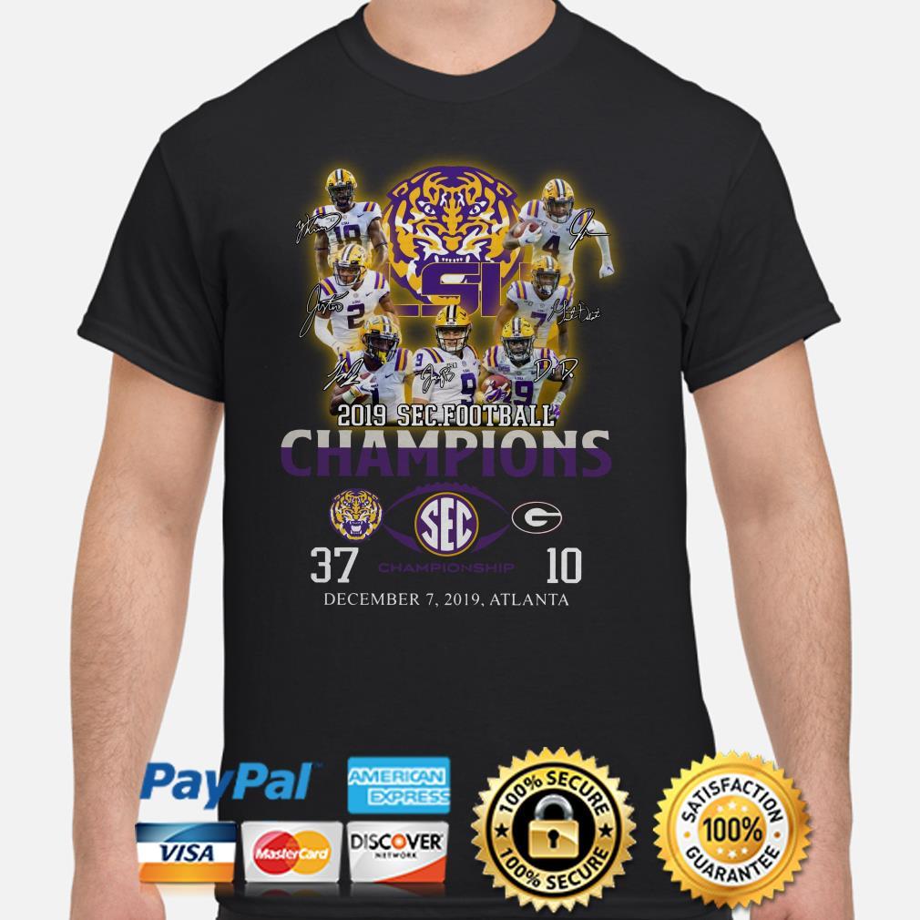 LSU Tigers 2019 SEC Football Champions signature shirt