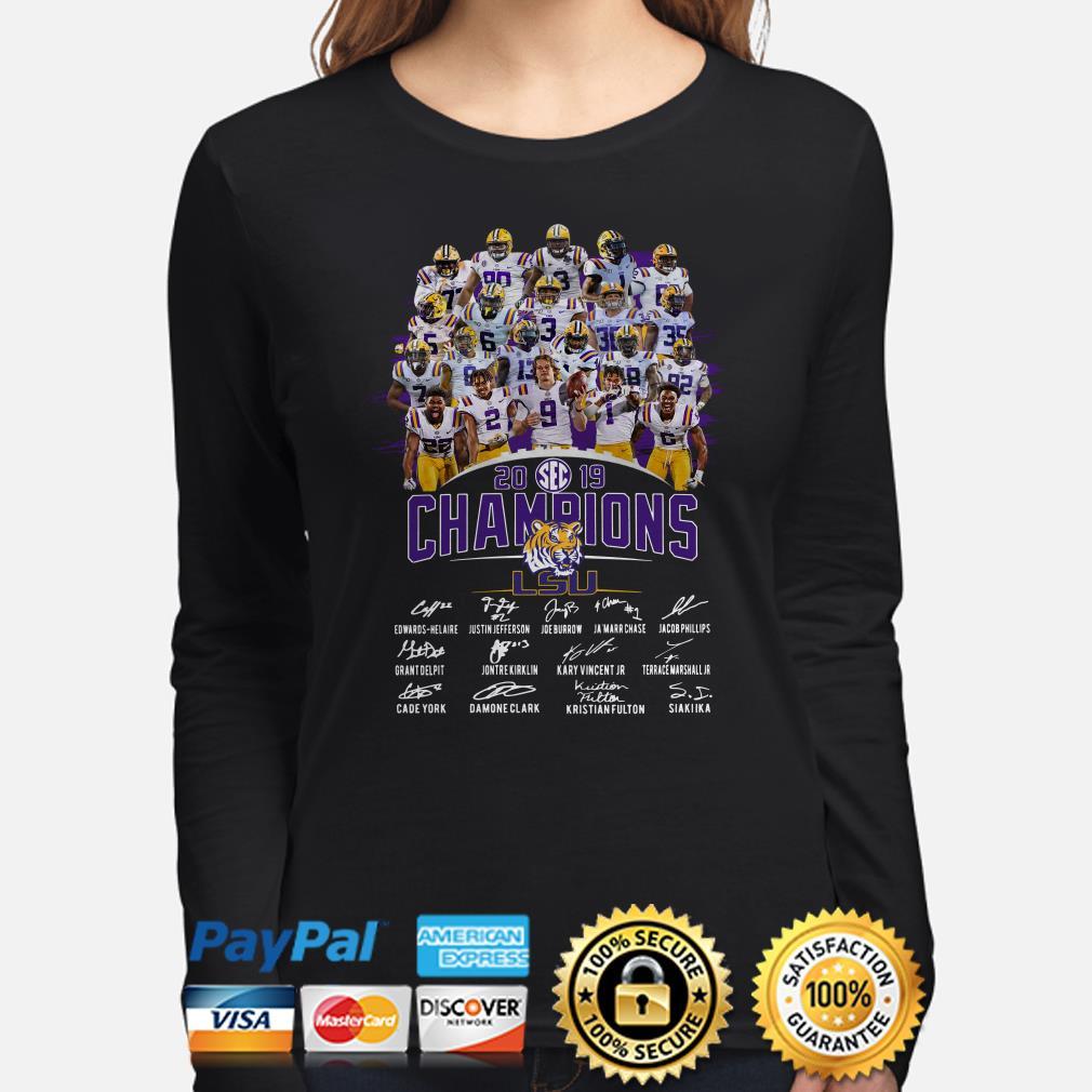 LSU Tigers SEC 2019 Champions signature Long sleeve