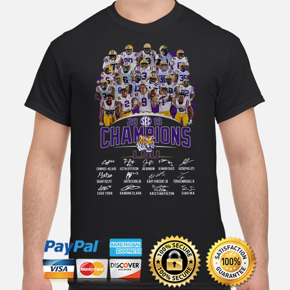 LSU Tigers SEC 2019 Champions signature shirt