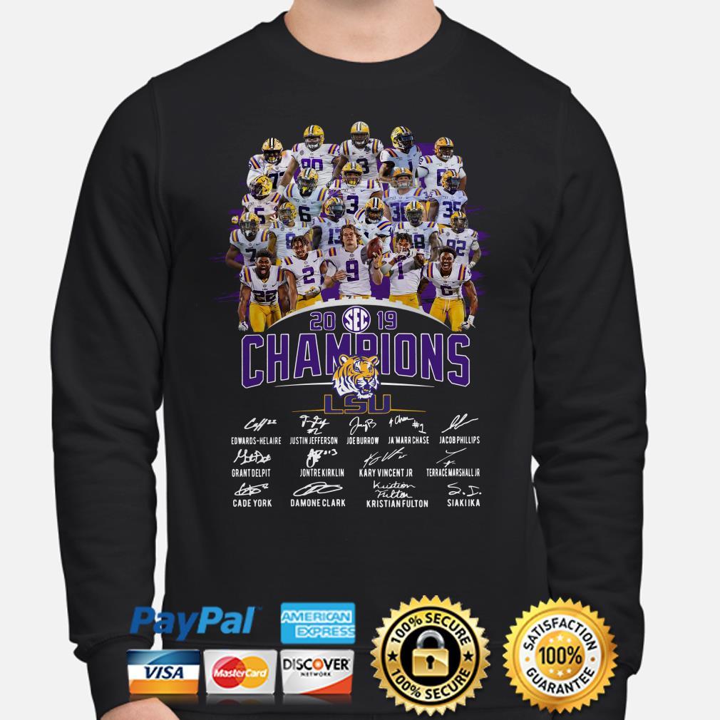 LSU Tigers SEC 2019 Champions signature Hoodie