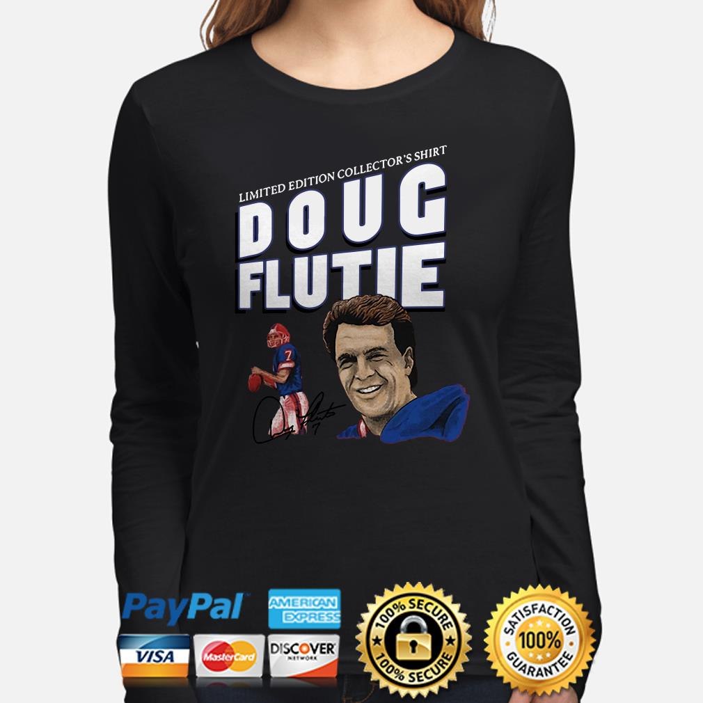 New England Patriots limited edition collector's shirt Doug Flute signature Long sleeve