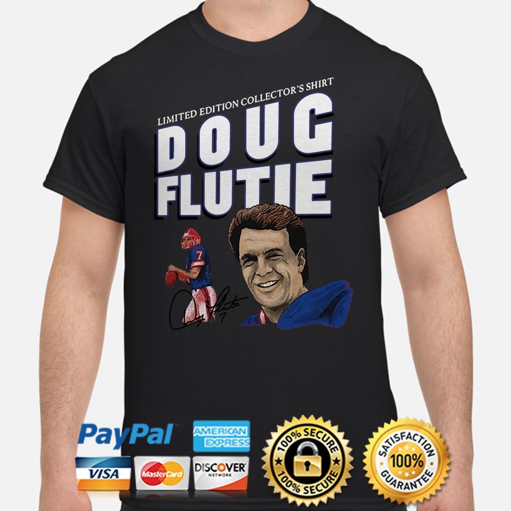 New England Patriots limited edition collector's shirt Doug Flute signature shirt