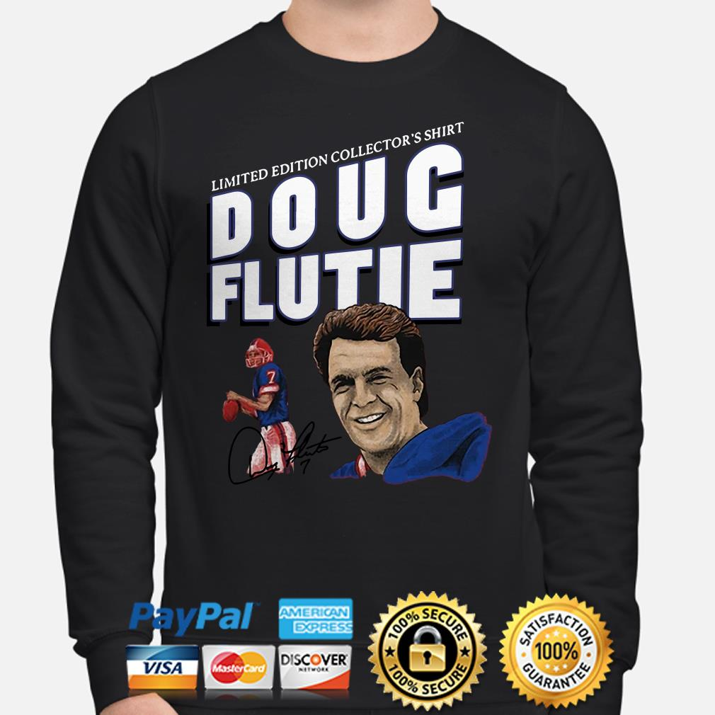 New England Patriots limited edition collector's shirt Doug Flute signature Sweater