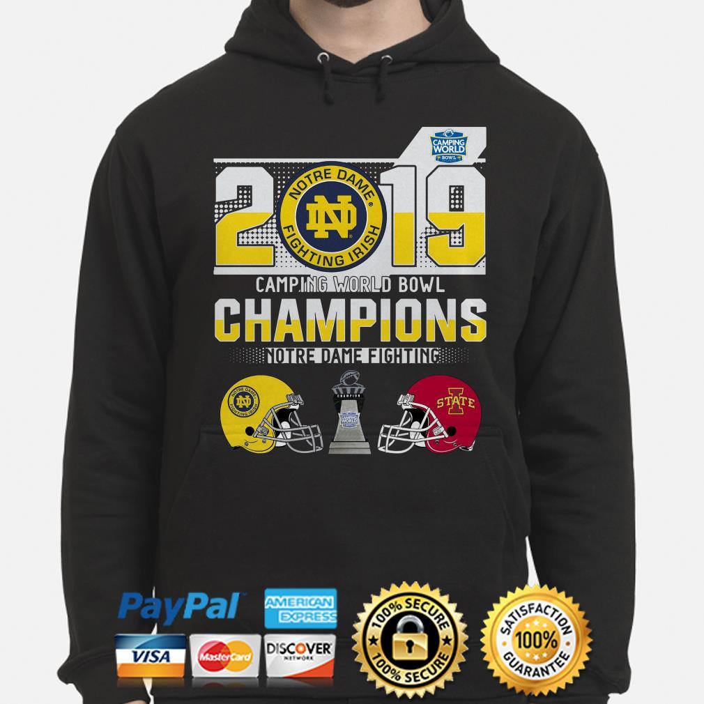 Notre Dame Fighting Irish Camping World Bowl Champions 2019 Hoodie