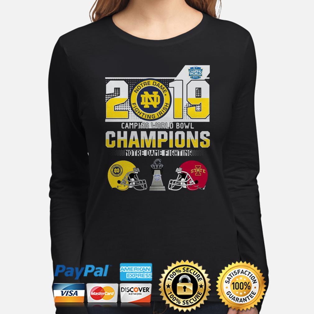 Notre Dame Fighting Irish Camping World Bowl Champions 2019 Long sleeve