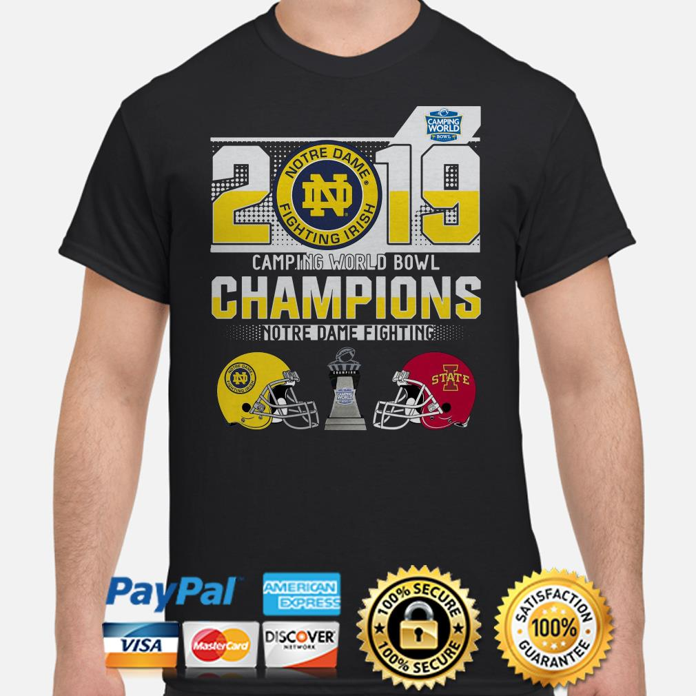 Notre Dame Fighting Irish Camping World Bowl Champions 2019 shirt