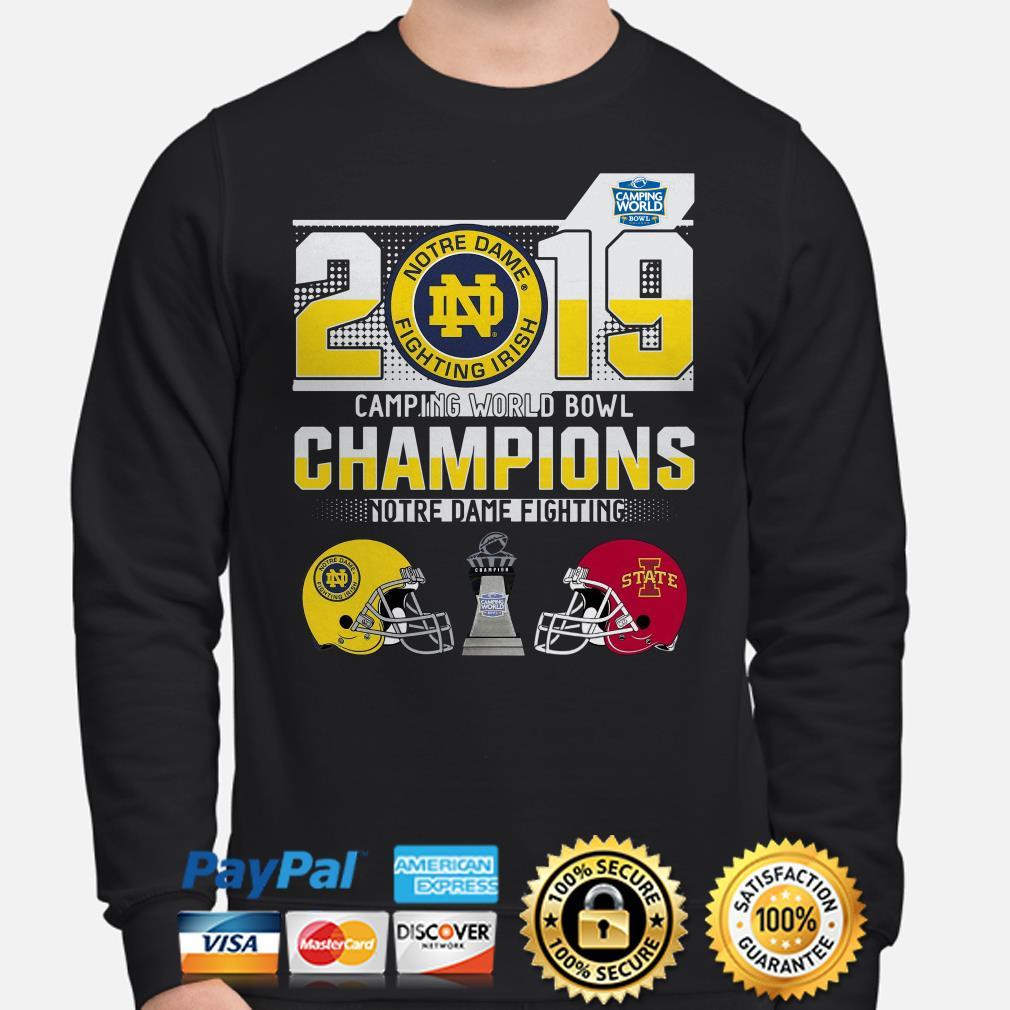 Notre Dame Fighting Irish Camping World Bowl Champions 2019 Sweater