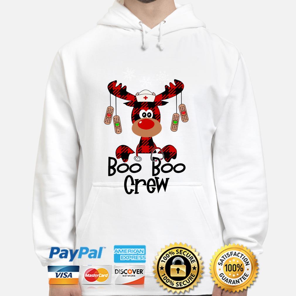 Nurse Boo Boo Crew reindeer Christmas hoodie