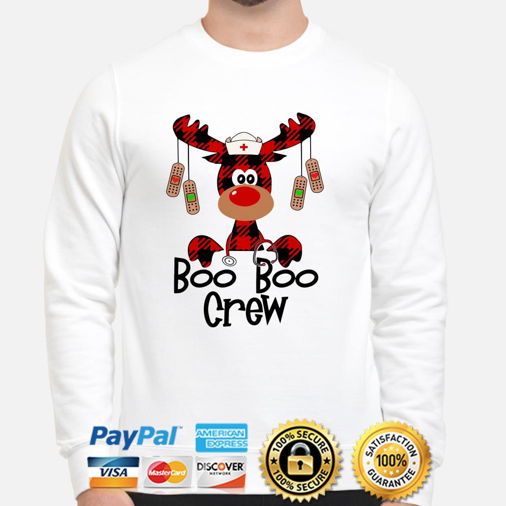 Nurse Boo Boo Crew reindeer Christmas Sweater