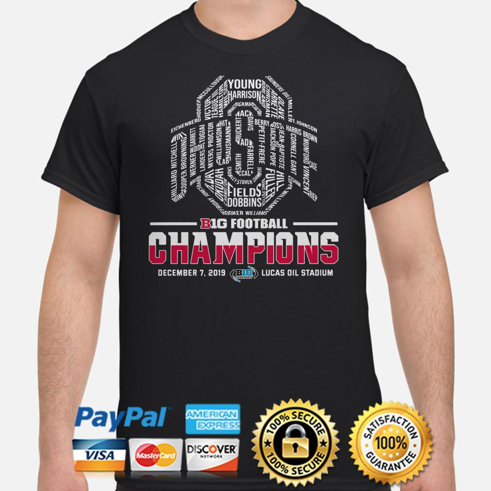 Ohio State Buckeyes big football Champions players name shirt