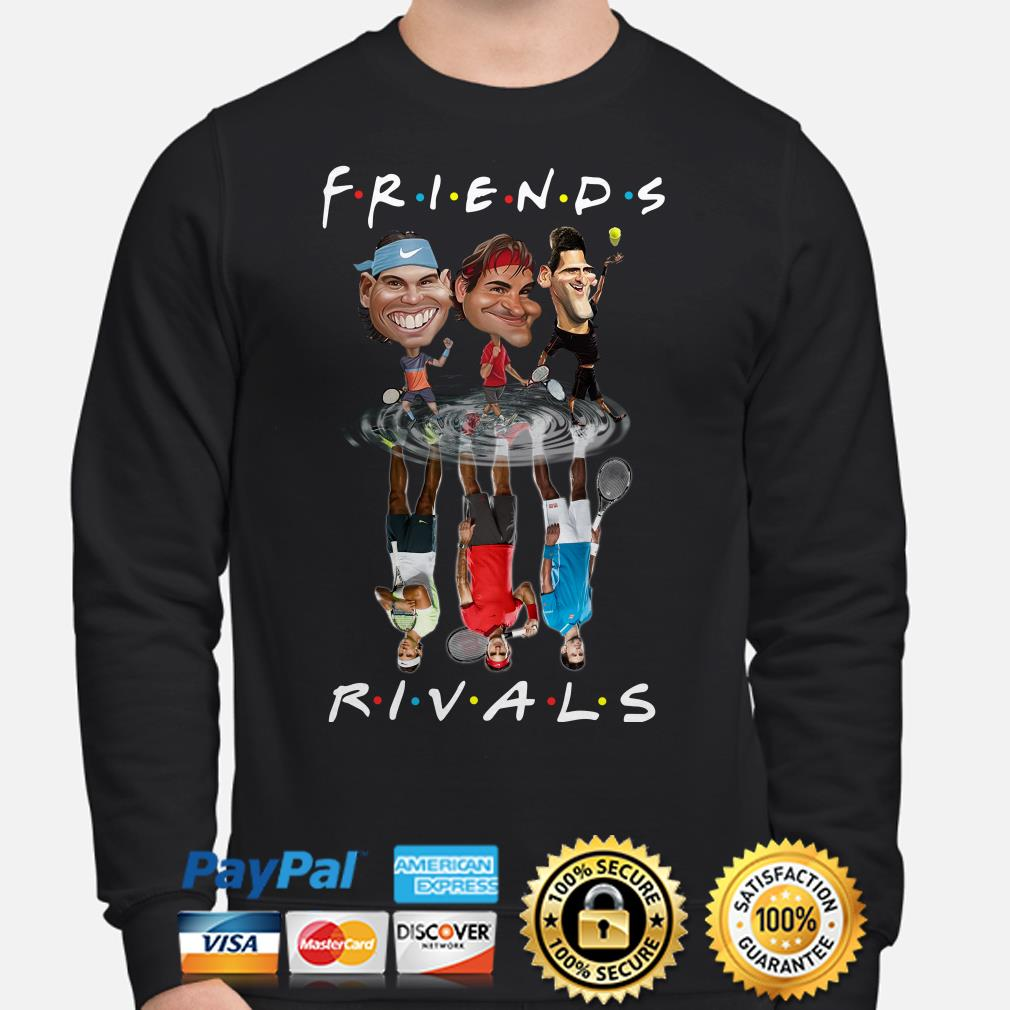 Rafael Nadal, Roger Federer, and Novak Djokovic Friends Rivals Sweater