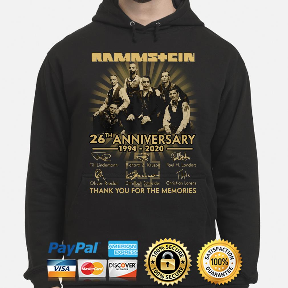 Rammstein 26th Anniversary thank you for the memories signature Hoodie