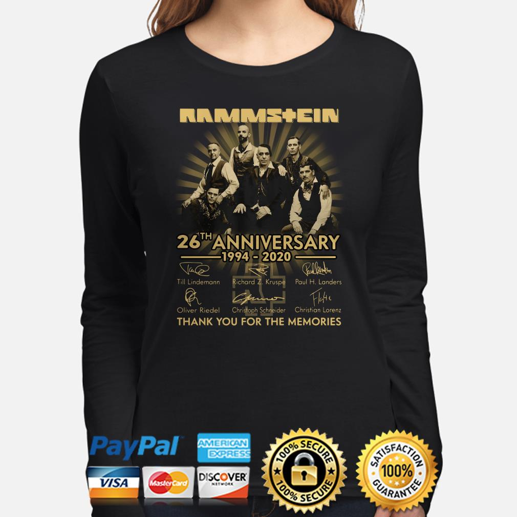 Rammstein 26th Anniversary thank you for the memories signature Long sleeve