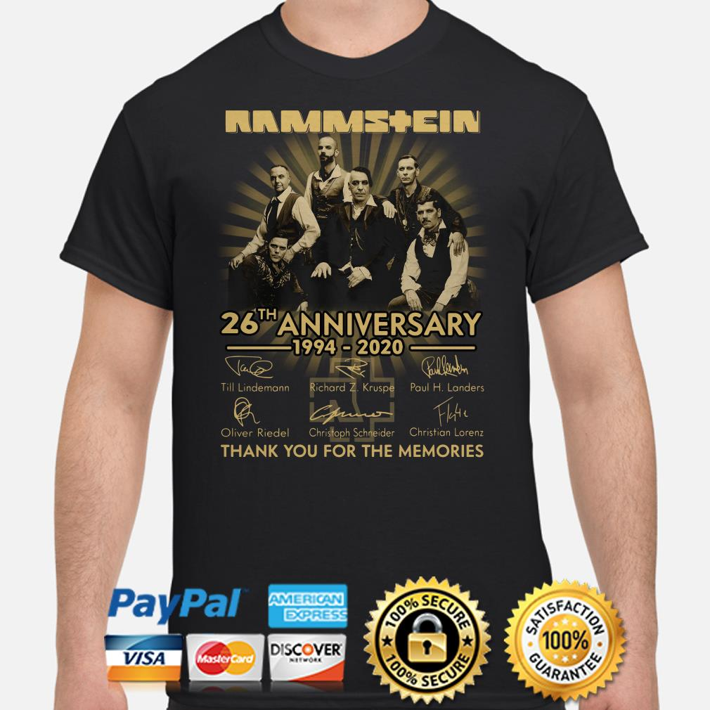 Rammstein 26th Anniversary thank you for the memories signature shirt