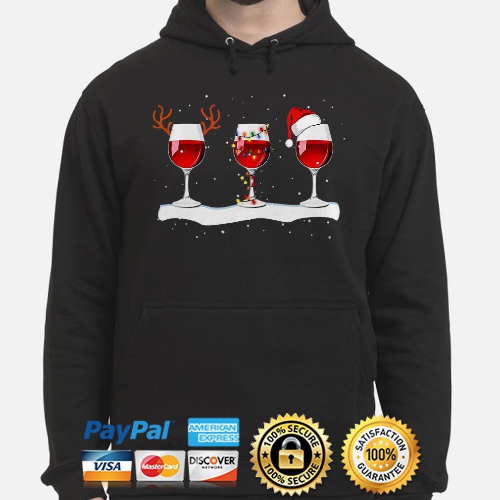Red Wine Glasses Christmas hoodie