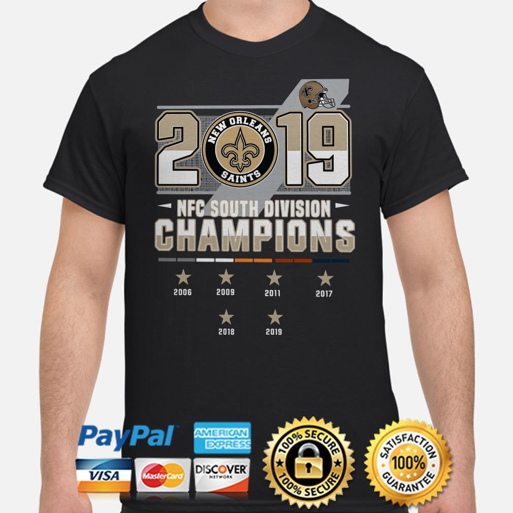 Saints New Orleans 2019 NFC South Division Champions shirt