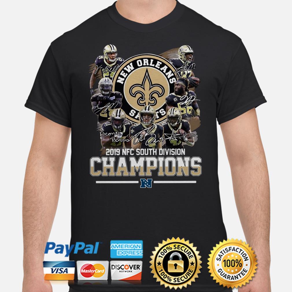 Saints New Orleans 2019 South Division Champions shirt