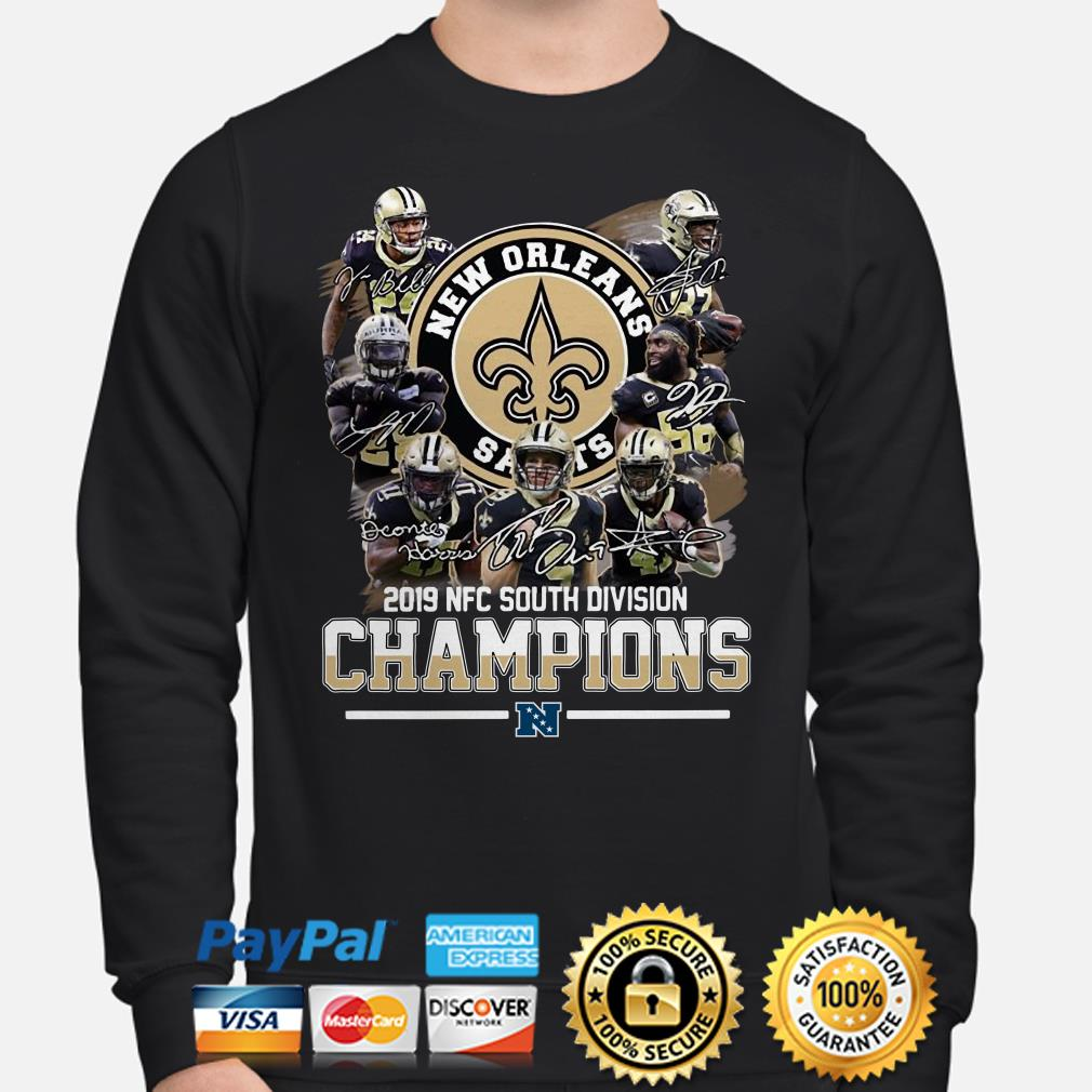 Saints New Orleans 2019 South Division Champions Long sleeve