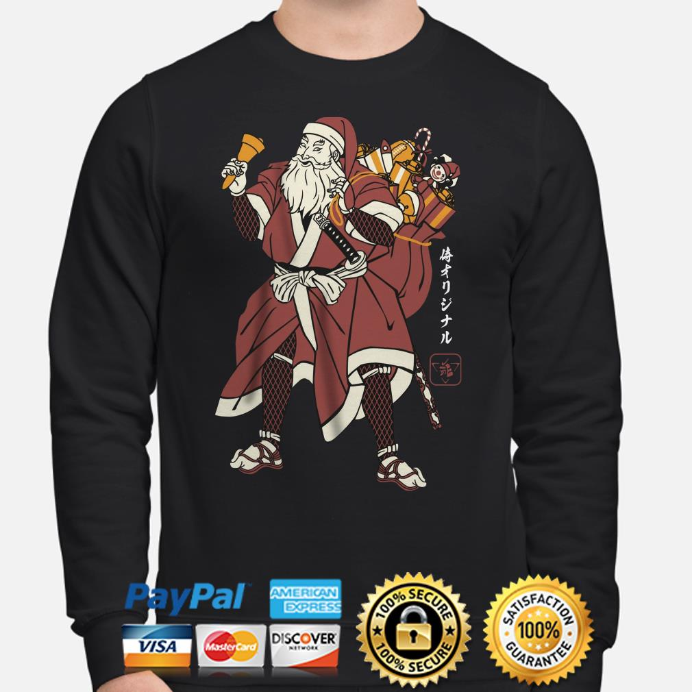 Santa Claus Samurai Christmas sweater
