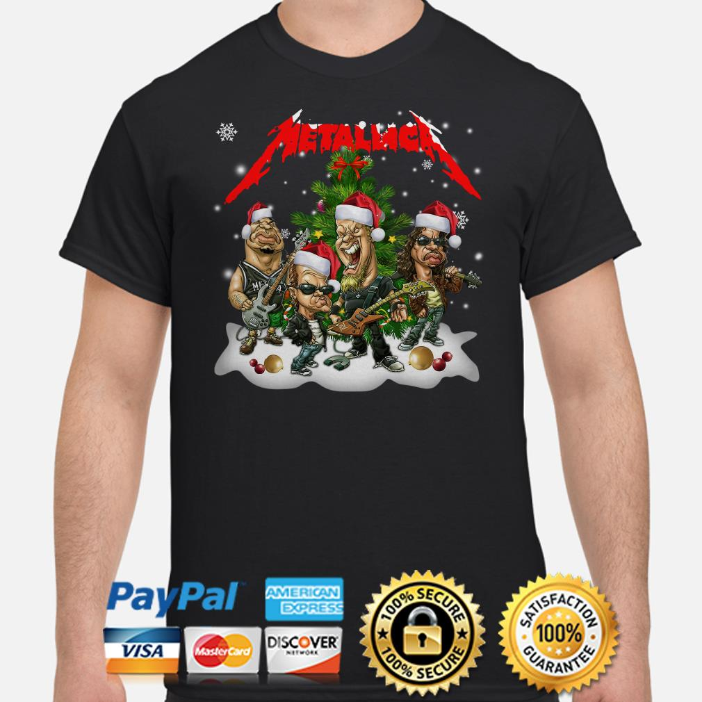 Santa Metallica Christmas t-shirt