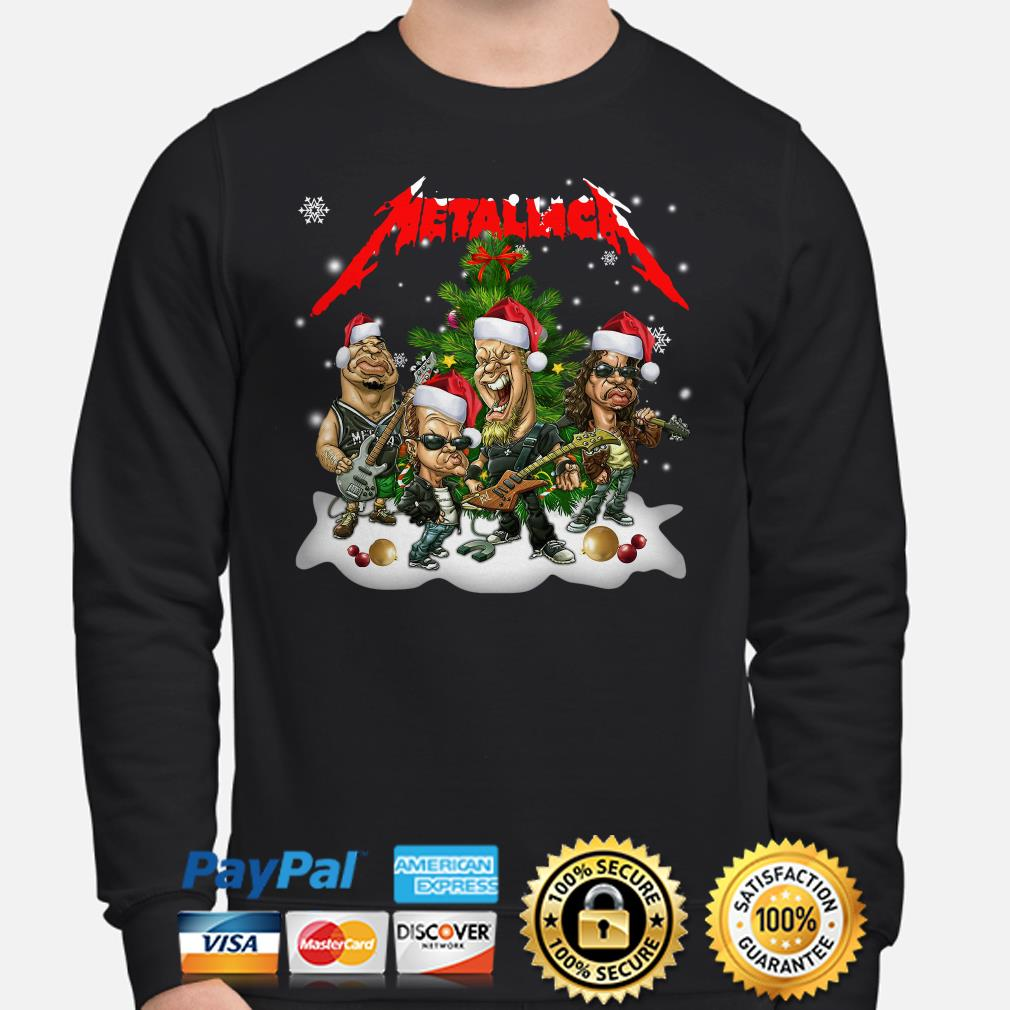 Santa Metallica Christmas tree sweater