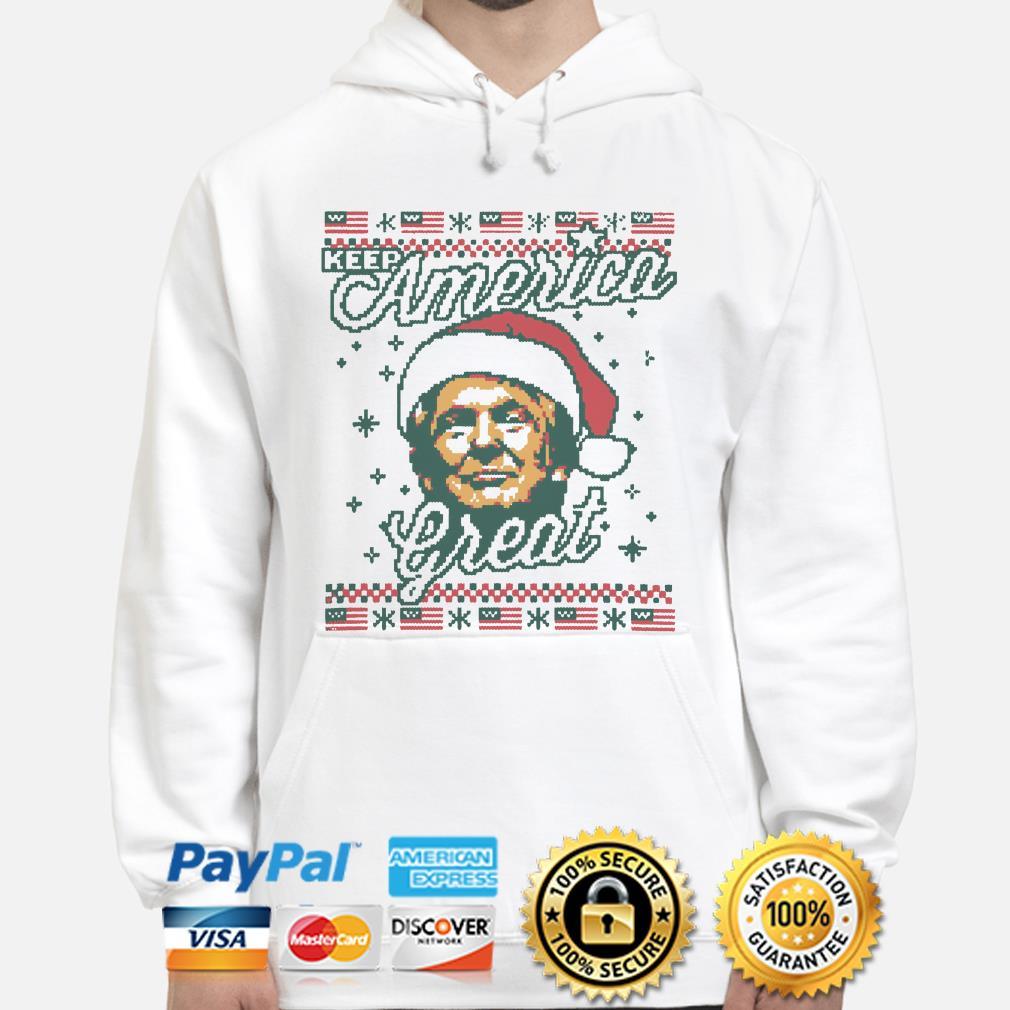 Santa Trump keep America Great ugly Christmas hoodie
