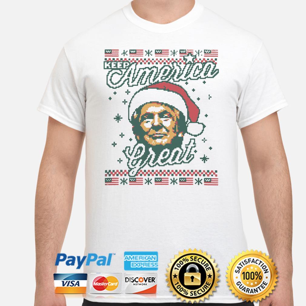 Santa Trump keep America Great ugly Christmas t-shirt