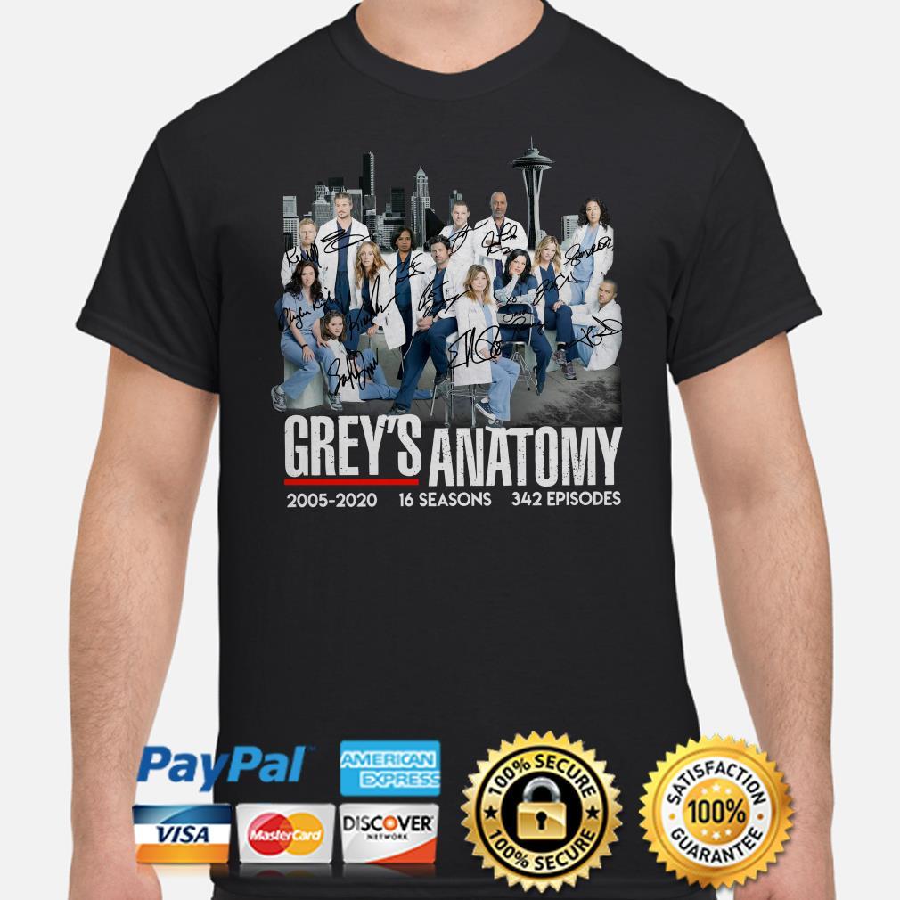 Grey's Anatomy 2005 2020 signatures shirt