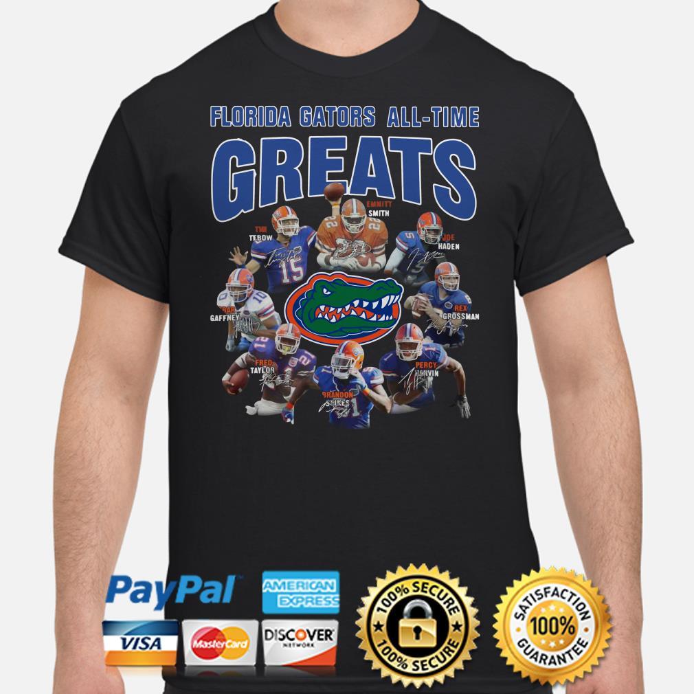 Florida Gators All-time greats signatures shirt
