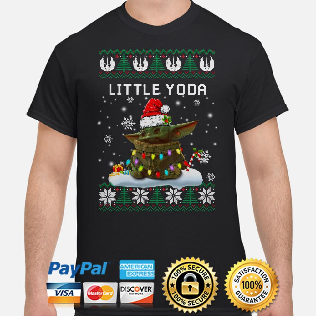 Santa Baby Yoda Little Yoda ugly Christmas t-shirt