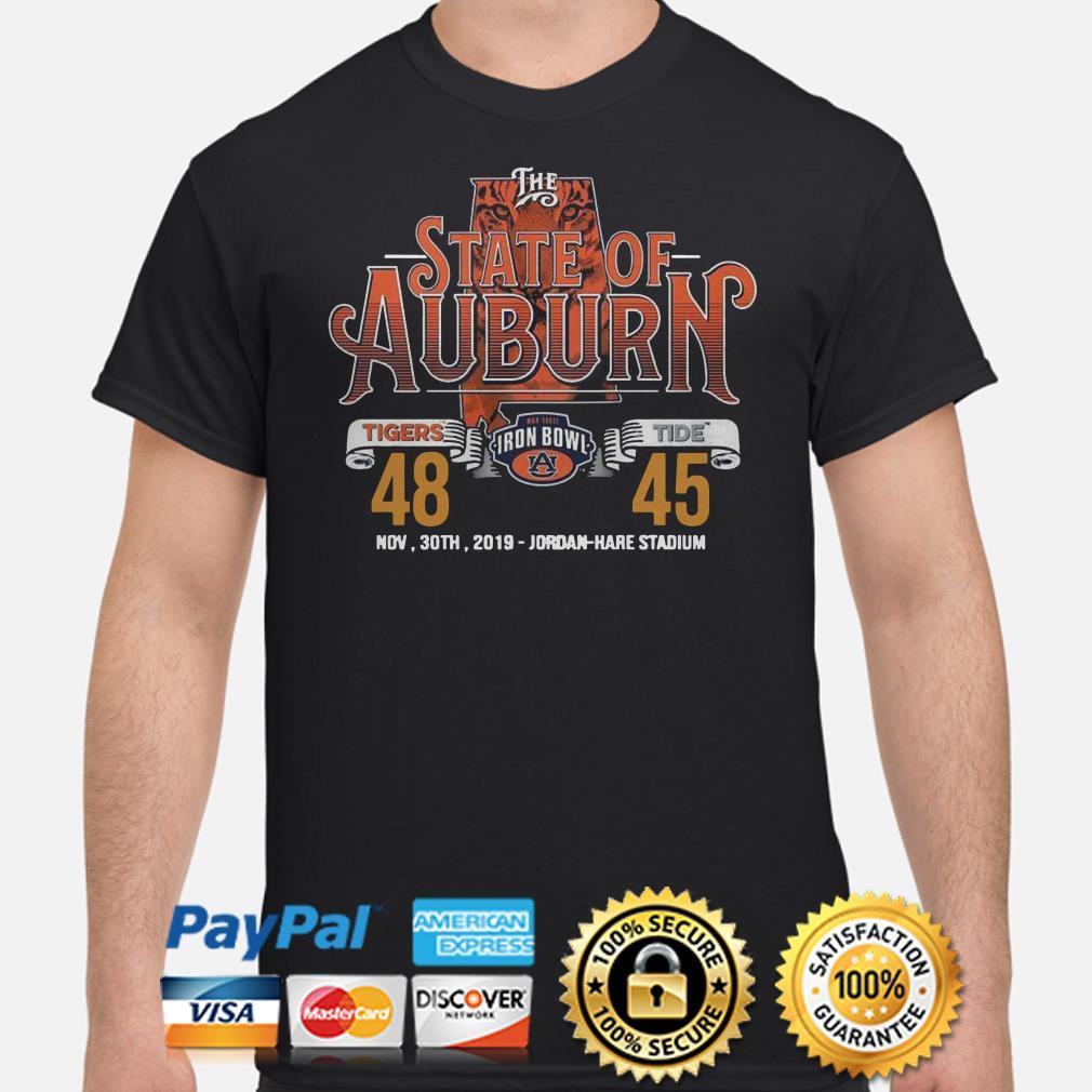 The State of Auburn Tigers Tide Nov 30th 2019 Jordan Hare Stadium shirt