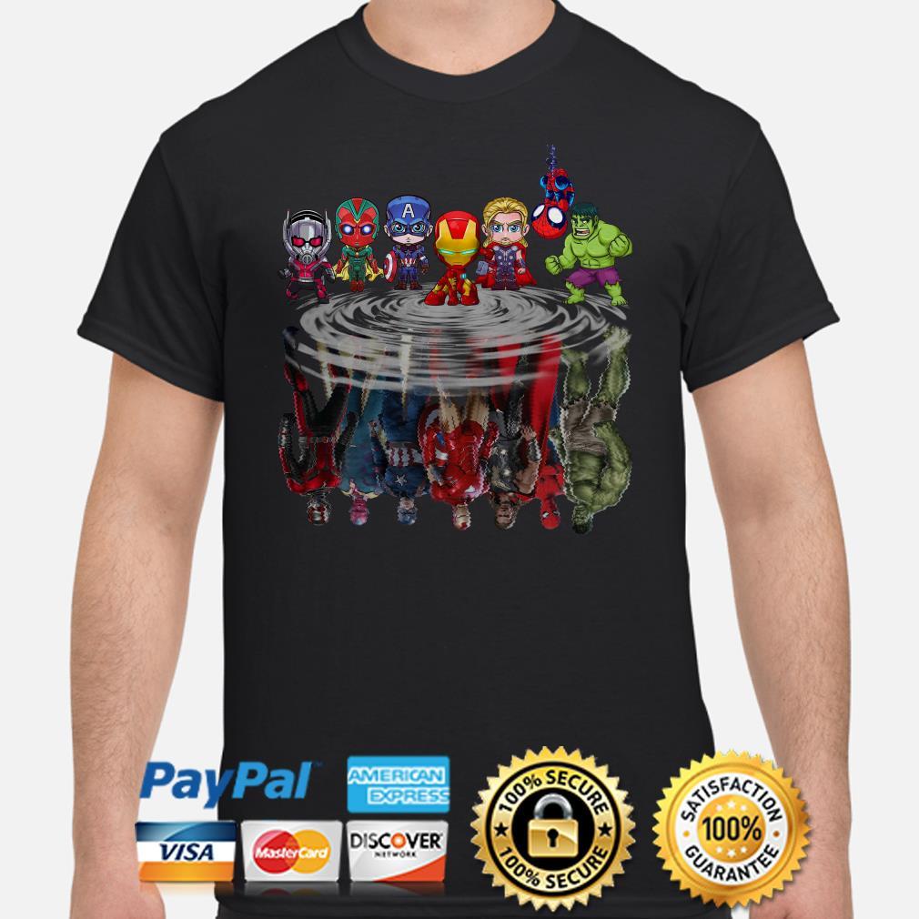 Marvel Chibi characters water mirror shirt