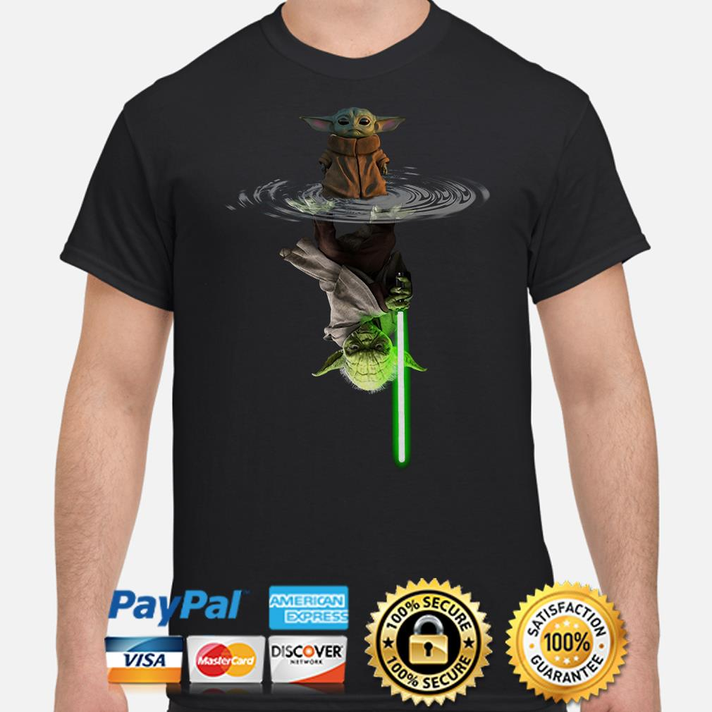 Baby Yoda water mirror Lightsaber shirt
