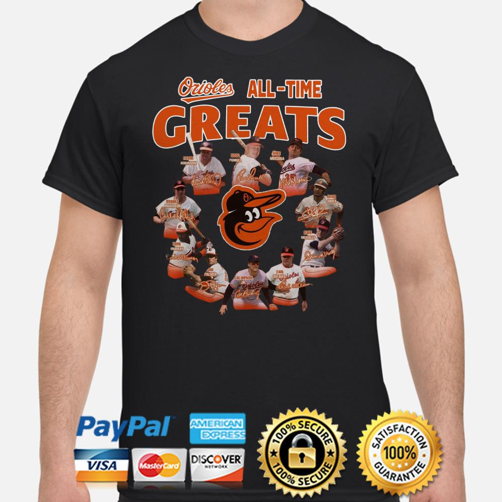 Baltimore Orioles all-time greats signatures shirt