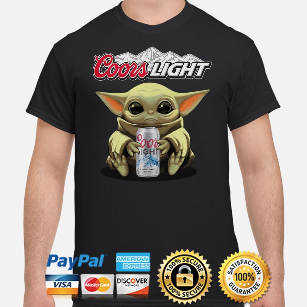 Baby Yoda hug Coors Light beer shirt