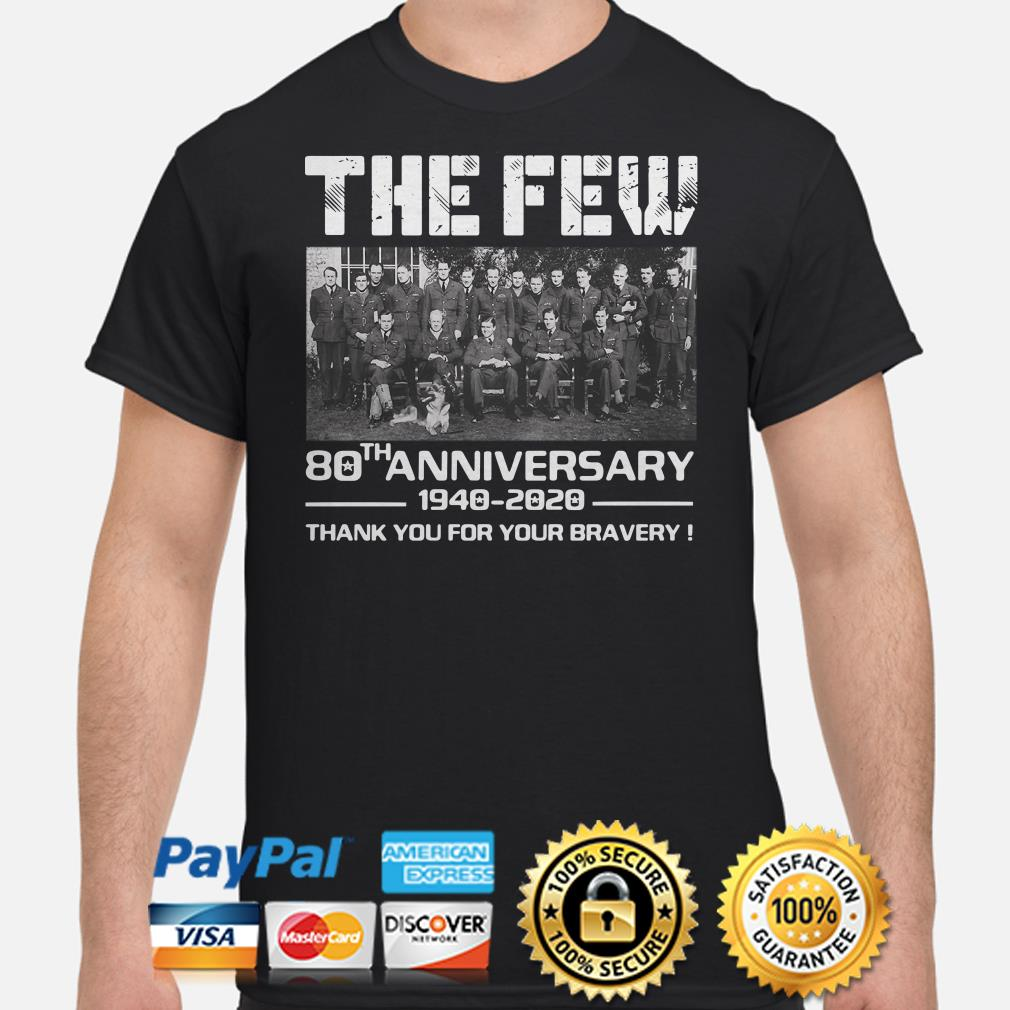 The Few 80th Anniversary thank you for the memories shirt