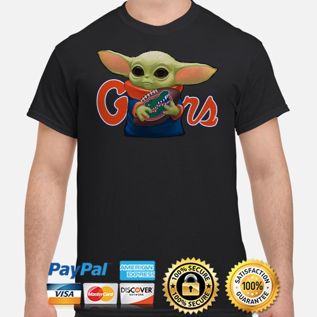 Baby Yoda hug Florida Gators shirt